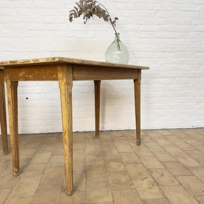 Pair of wooden bistro tables 1930