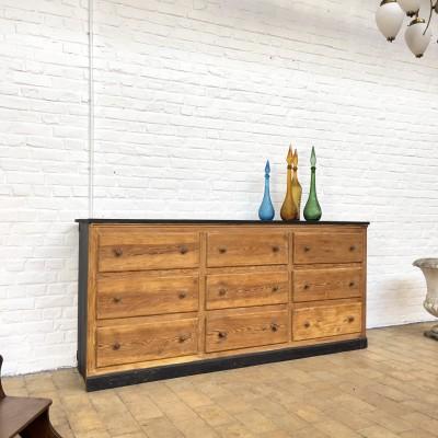 Wooden haberdashery cabinet 9 drawers