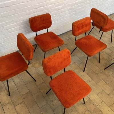 Series of 6 André Simart chairs 1970