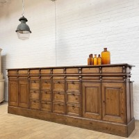 Wine cellar counter in wood early 20th century