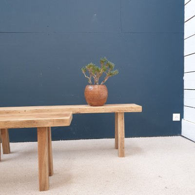 BRUTALIST PAIR OF BENCHES