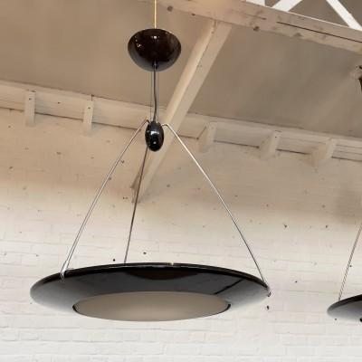 Set of 4 vintage Mira chandeliers by Ezio Didone for Arteluce 1990