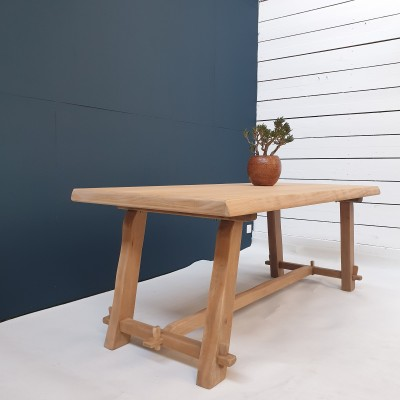 French brutalist dining table