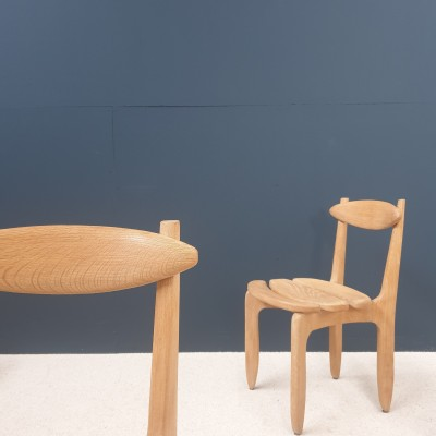"""GUILLERME et CHAMBRON set of 6 """"Thierry"""" chairs éd """"Votre Maison"""" 1950"""