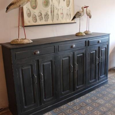 Ancien arrière de comptoir en bois