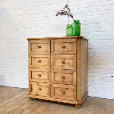 Ancien meuble en bois 8 tiroirs