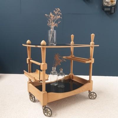 Desserte /  chariot de bar par GUILLERME et CHAMBRON 1950