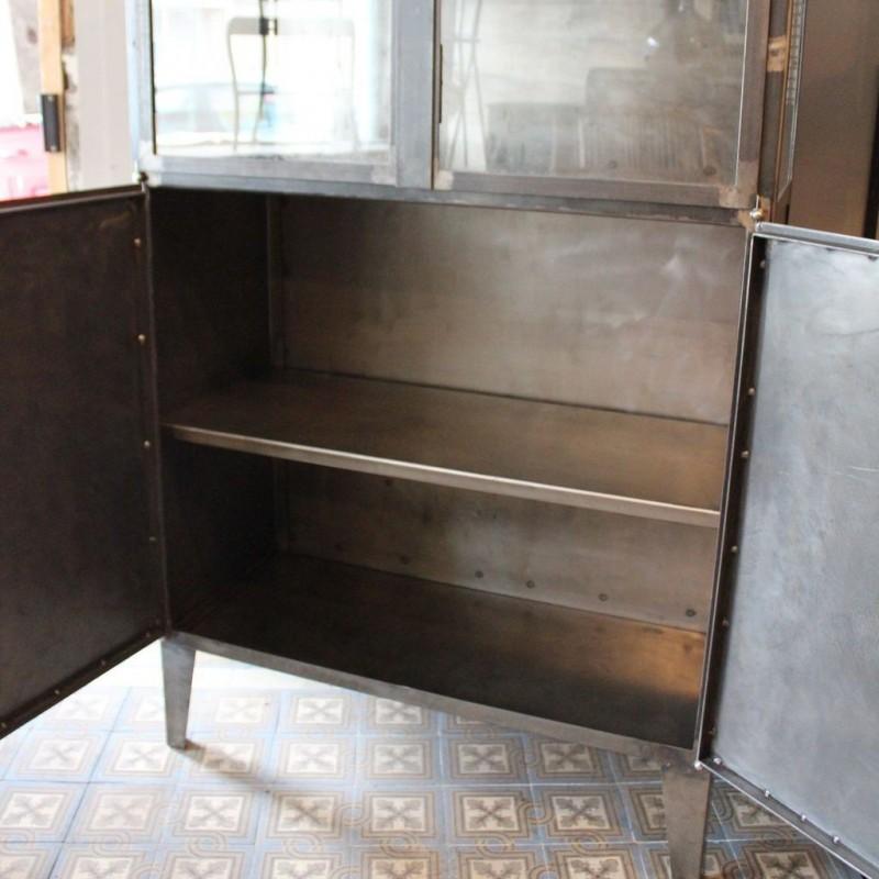mobilier industriel ancienne vitrine m dicale 1950. Black Bedroom Furniture Sets. Home Design Ideas