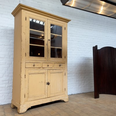French wooden glass cabinet