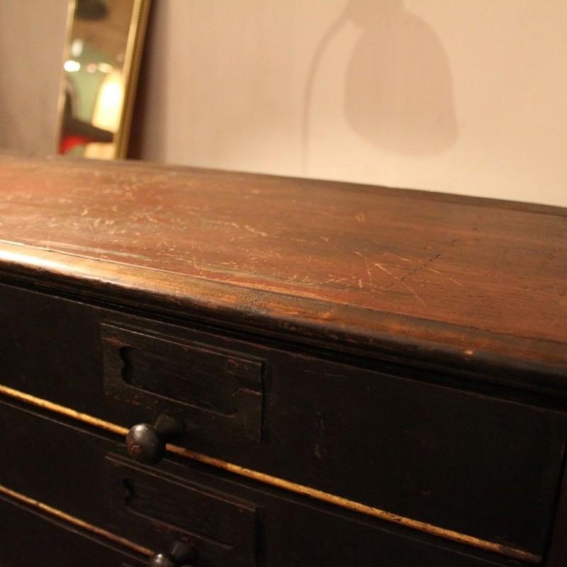 mobilier industriel ancien meuble de notaire en bois. Black Bedroom Furniture Sets. Home Design Ideas
