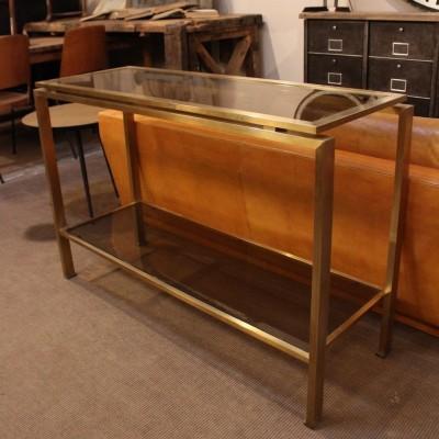 Ancienne console en métal doré 1970