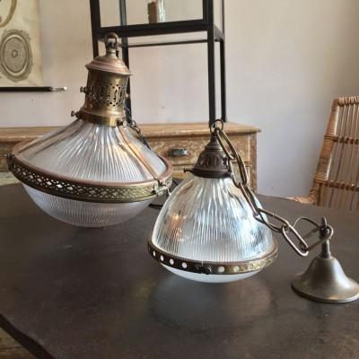 """Série de lampes """"Holophane"""""""