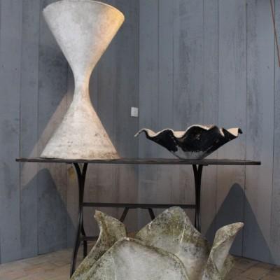 Fiber cement flowerpot by Willy Guhl