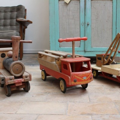 Old wooden toys