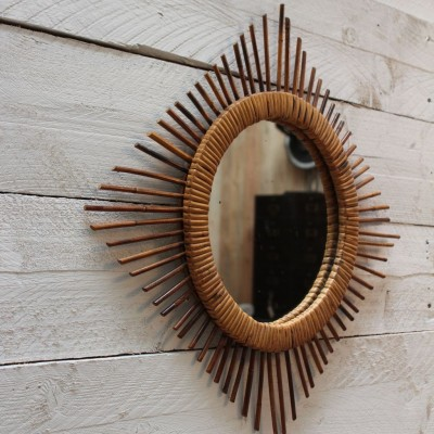 Rattan mirror 1960