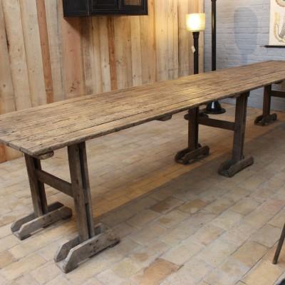Mobilier industriel grande table d 39 atelier - Table atelier industriel ...