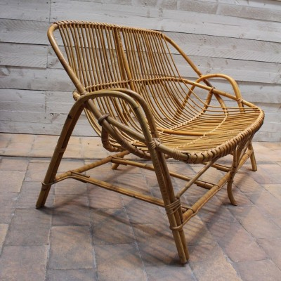 Rattan armchair 1960