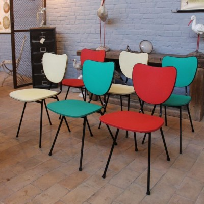 Set of 6 chairs 1960