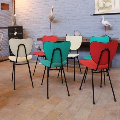 Série de 6 chaises 1960