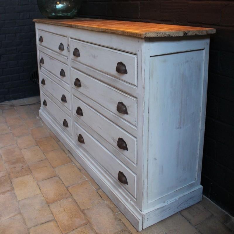 mobilier industriel ancien meuble de mercerie en bois. Black Bedroom Furniture Sets. Home Design Ideas