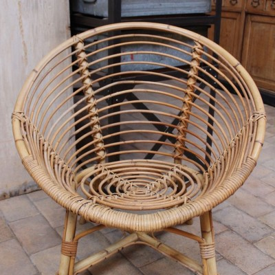 Rattan armchairs circa 1960