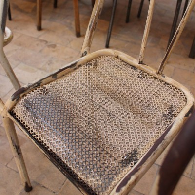 Set of 5 metal armchairs