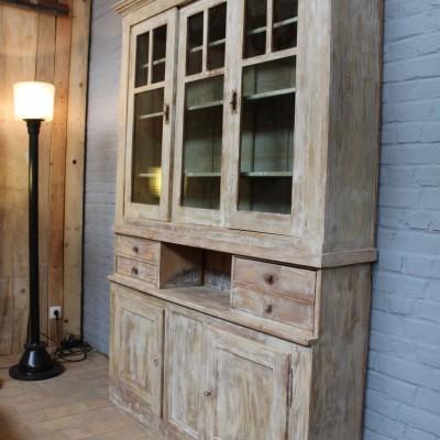 mobilier industriel ancien meuble 2 corps en bois. Black Bedroom Furniture Sets. Home Design Ideas