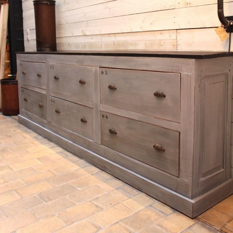 meuble de commerce en bois 1950