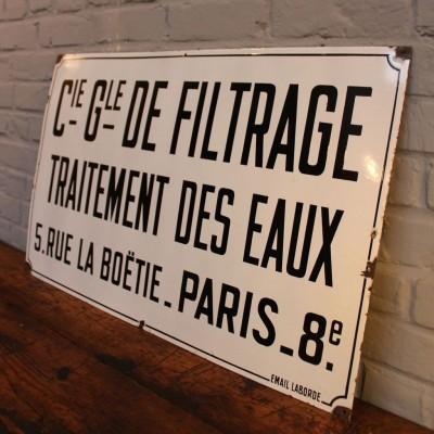 """Old plaque enamelled """"City of Paris"""""""