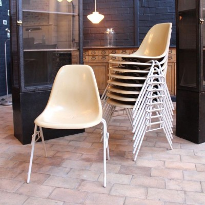 11 Fiberglass Chairs by Charles and Ray Eames 1960