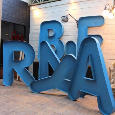 8 Metal Sign Letters