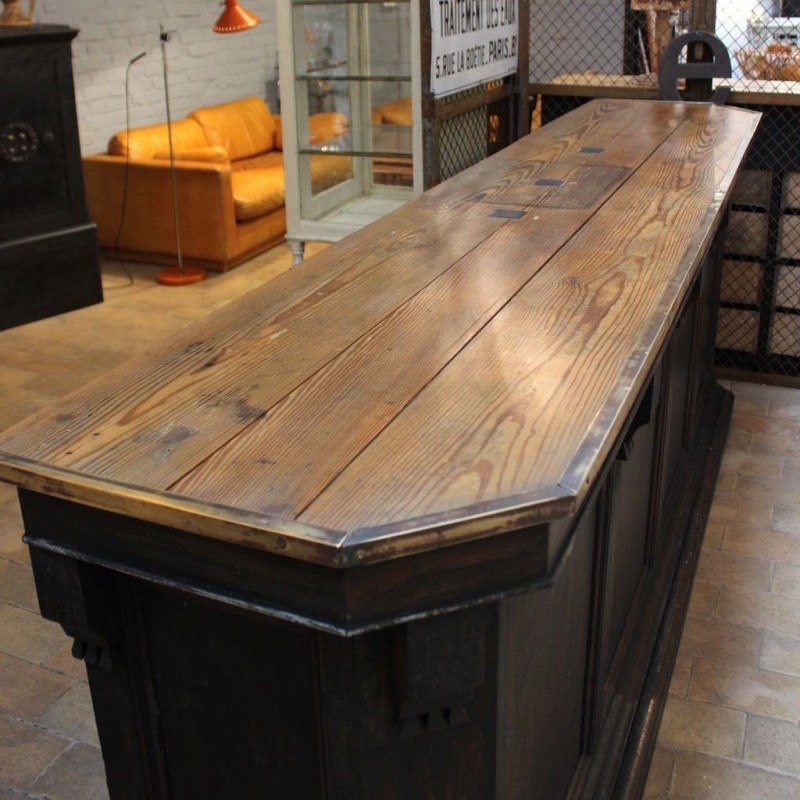 mobilier industriel ancien comptoir de caf. Black Bedroom Furniture Sets. Home Design Ideas