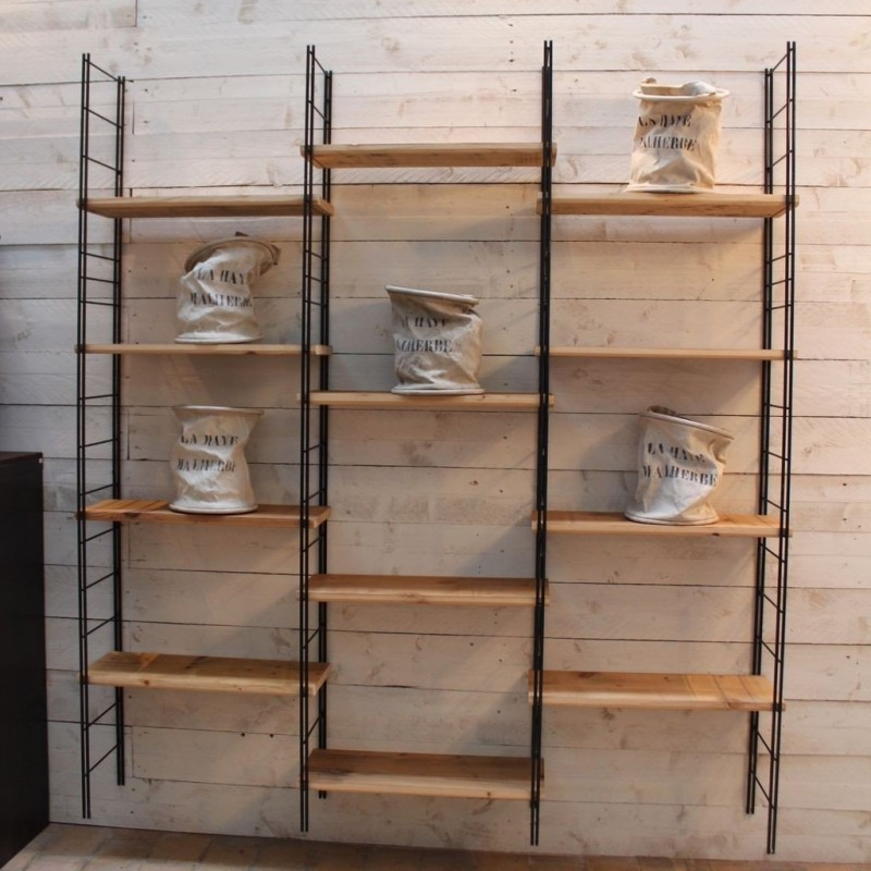 etagere industrielle bois metal industrial shelving for. Black Bedroom Furniture Sets. Home Design Ideas