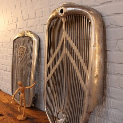 Old car grills circa 1930