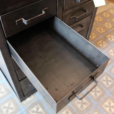 Ancien établi métal et bois