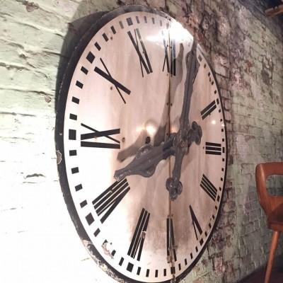 Old clock face enamelled 1930