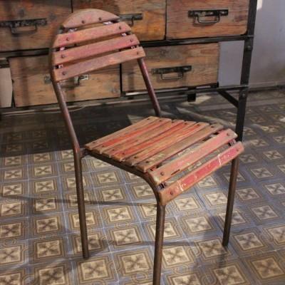 Ancienne chaise métal et bois