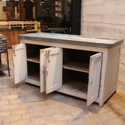 Ancien meuble de fleuriste en bois