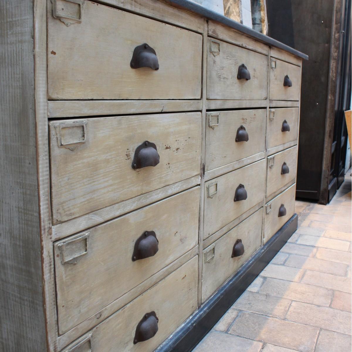 Ancien meuble en bois tiroirs - Meubles provencaux anciens ...