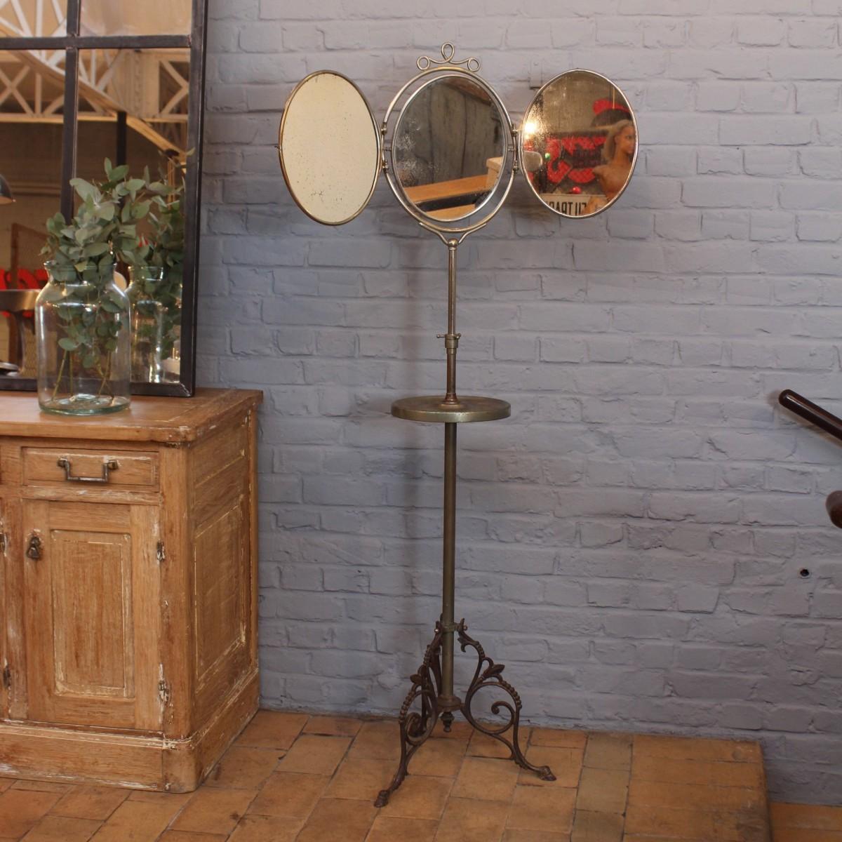 miroir de barbier avec tablette petit with miroir de. Black Bedroom Furniture Sets. Home Design Ideas