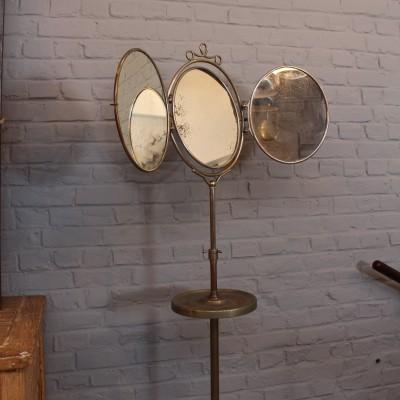 Ancien miroir de barbier