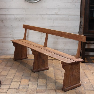 Former wooden bench