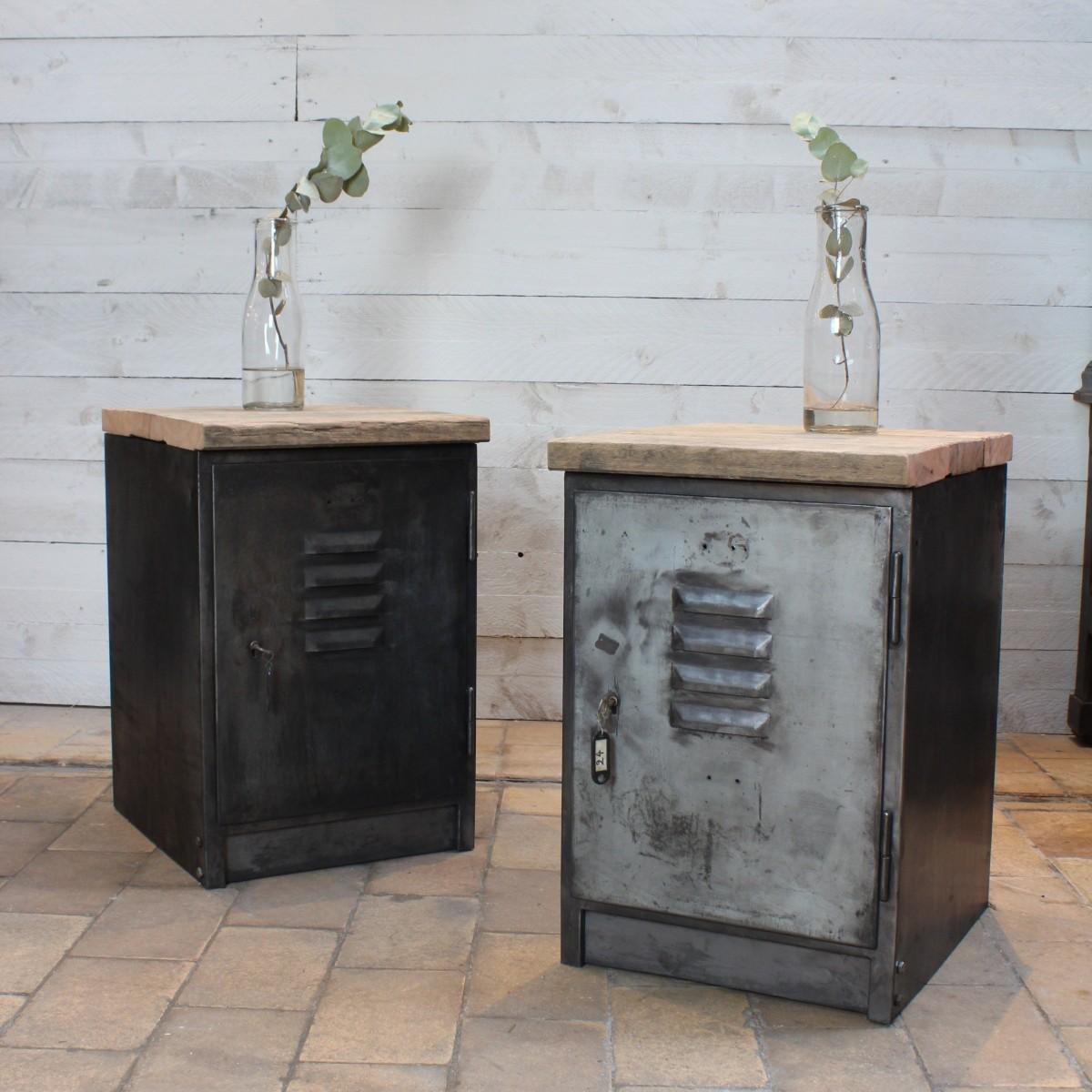 Paire de casiers industriel - Meuble casier industriel ...