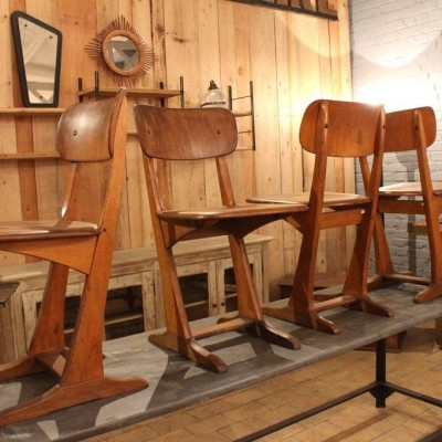 Set of 4 wooden chairs Casala