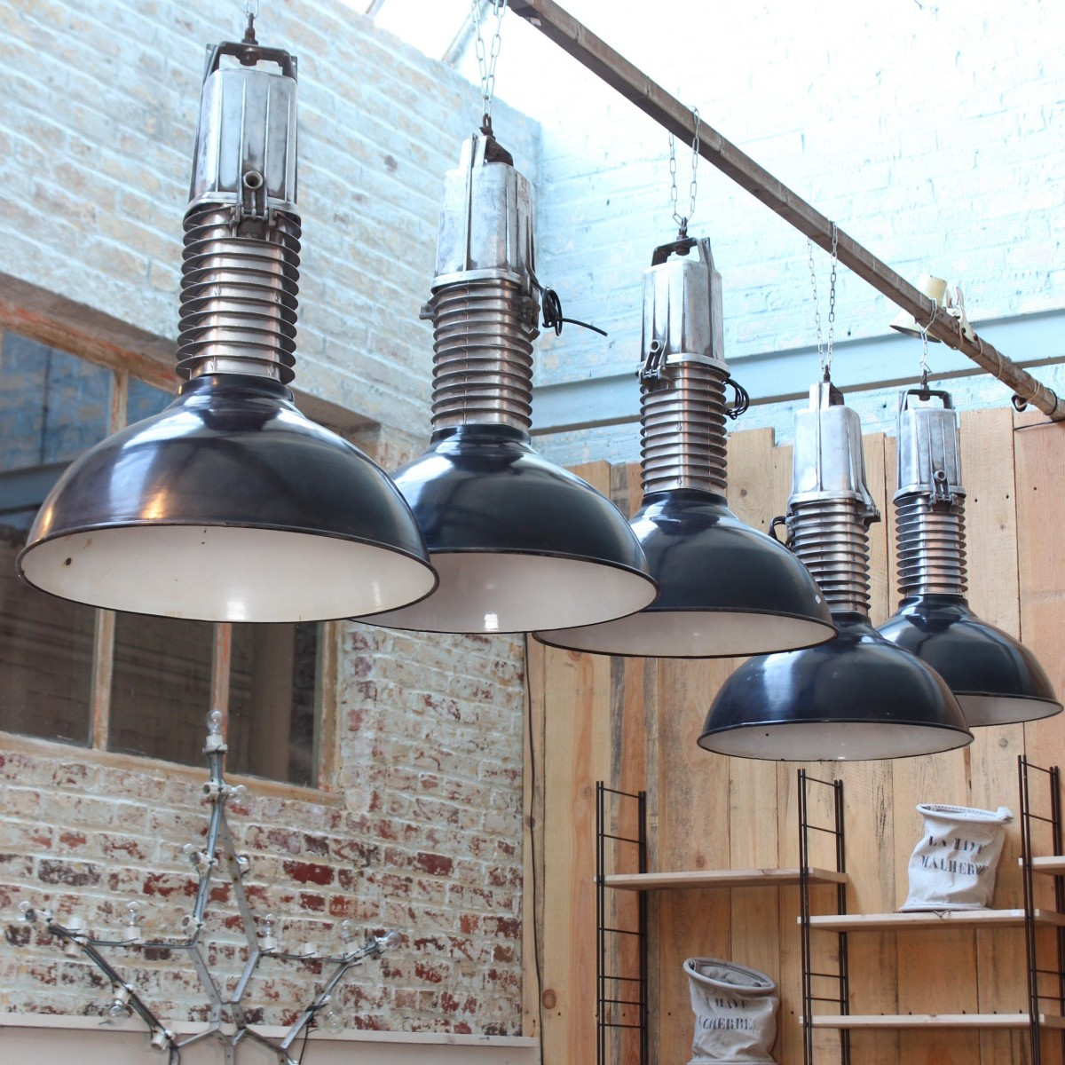 Lampes Industrielles Philips 1950