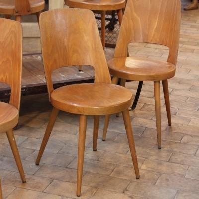 """Set of 6 chairs """"Baumann"""" 1960"""