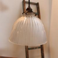 Ancienne lampe d'usine Holophane