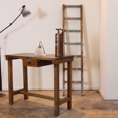Wooden factory workbench