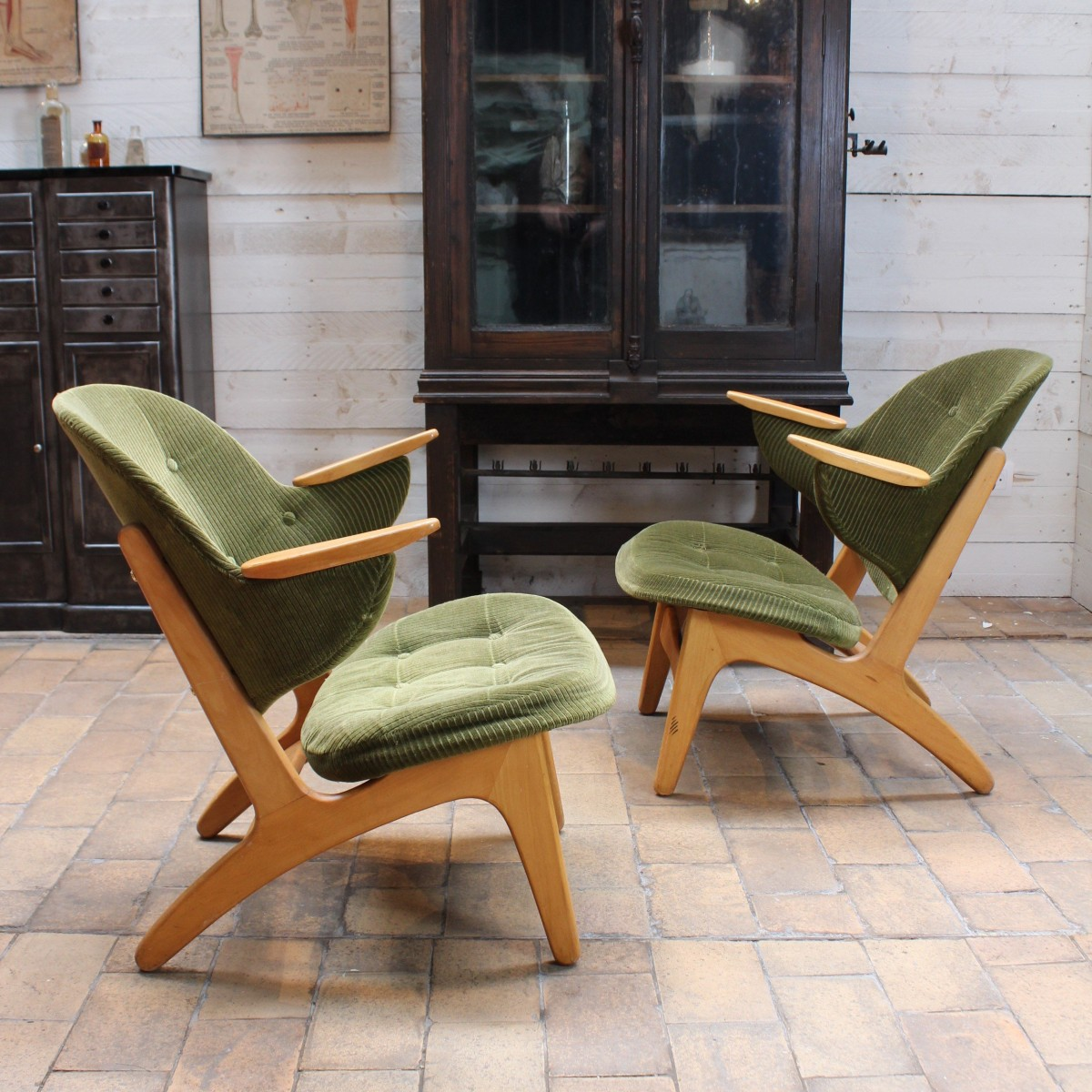 Pair of Danish armchairs 1960
