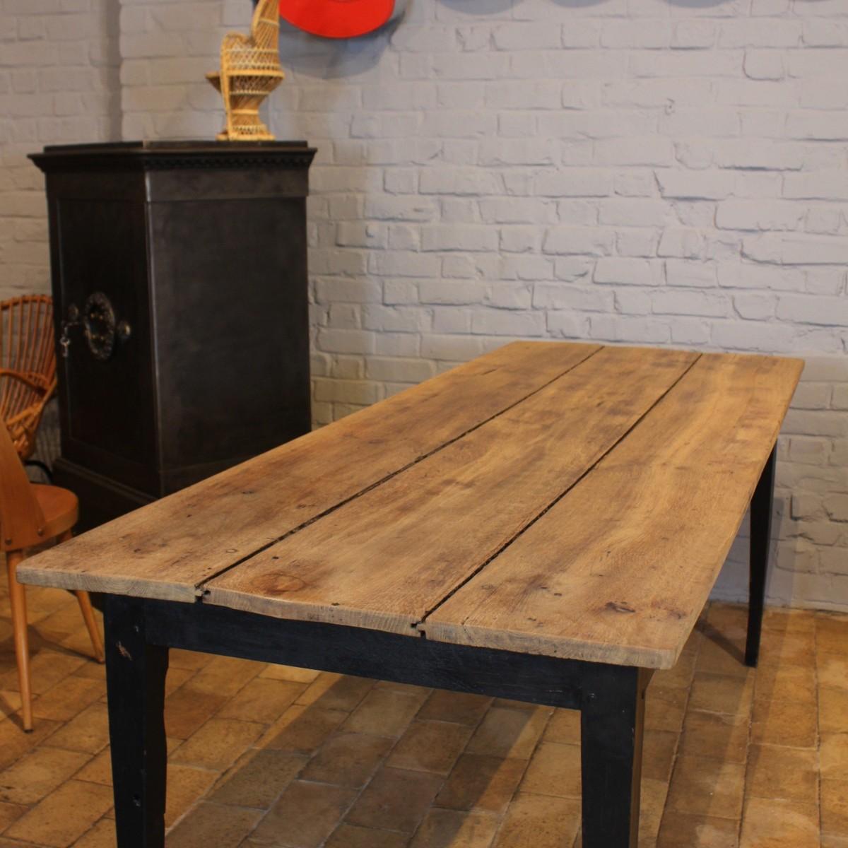 table de ferme en bois interesting finebuy table basse en bois massif de cm table basse table. Black Bedroom Furniture Sets. Home Design Ideas
